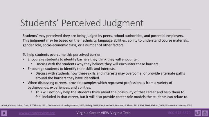 Students' Perceived Judgment