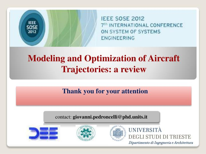 Modeling and Optimization of Aircraft Trajectories: a review
