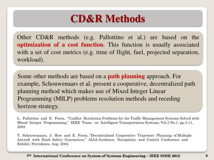 CD&R Methods