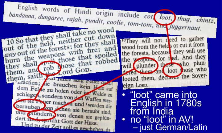 """loot"" came into English in 1780s from India"