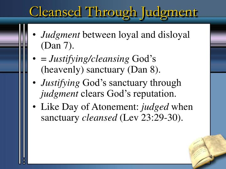 Cleansed Through Judgment