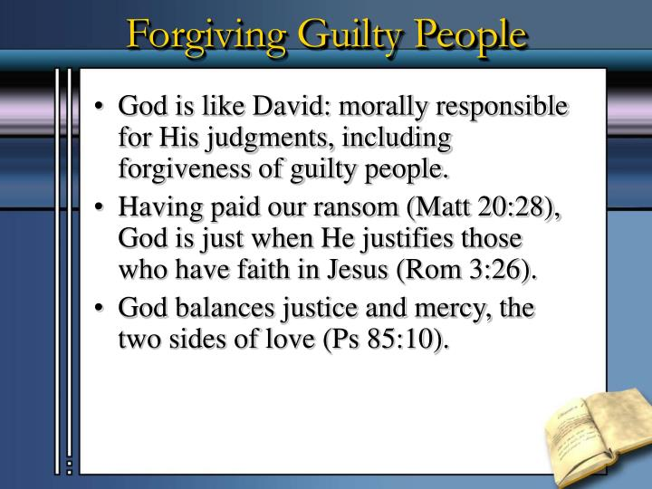 Forgiving Guilty People