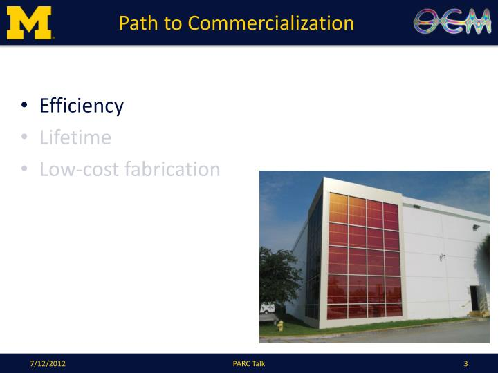 Path to commercialization