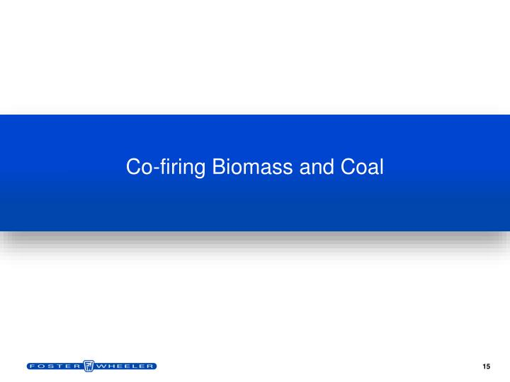 Co-firing Biomass and Coal