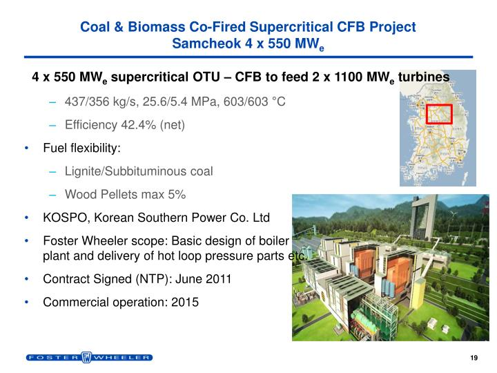 Coal & Biomass Co-Fired Supercritical CFB Project