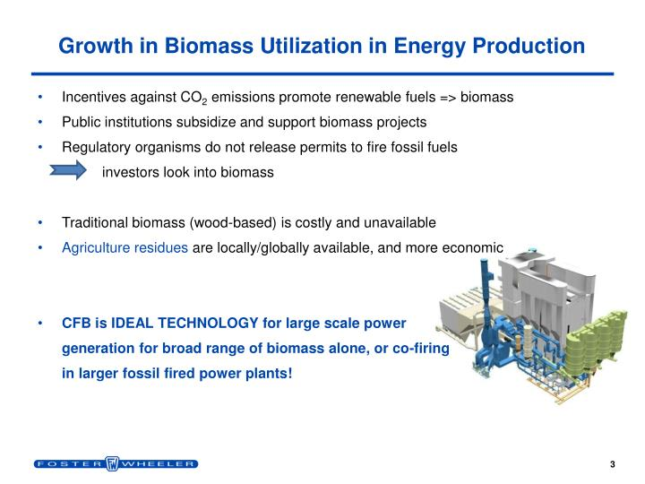 Growth in Biomass Utilization in Energy Production