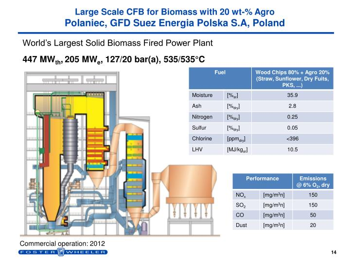 Large Scale CFB for Biomass with 20 wt-% Agro