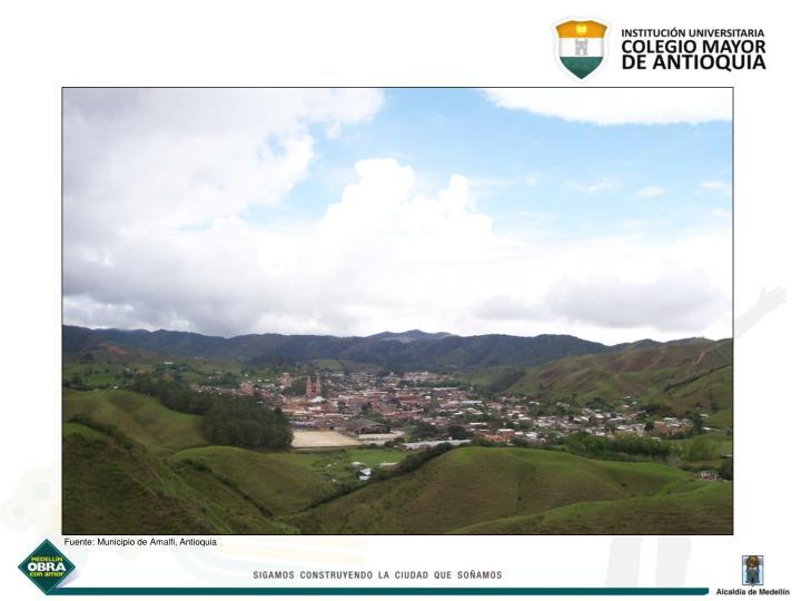 Fuente: Municipio de Amalfi, Antioquia