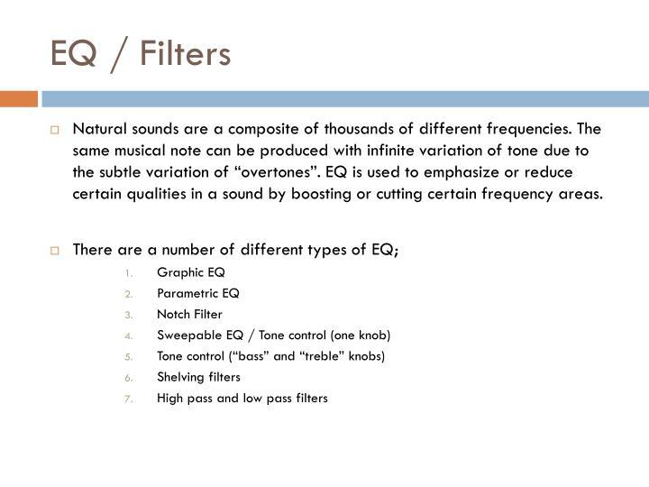 EQ / Filters