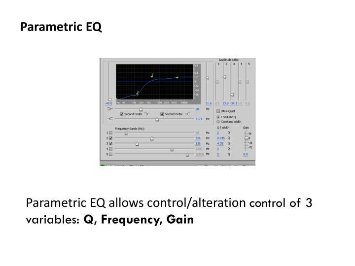 Parametric EQ