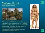moderni lovek homo sapiens sapiens