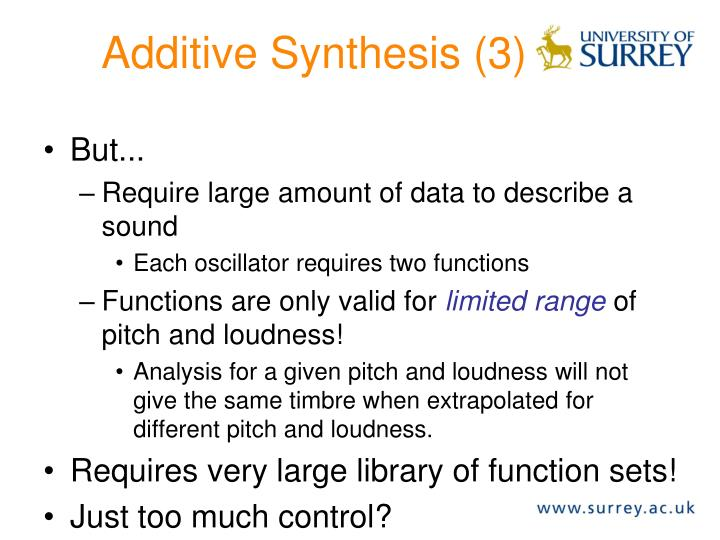 Additive Synthesis (3)