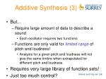 additive synthesis 3