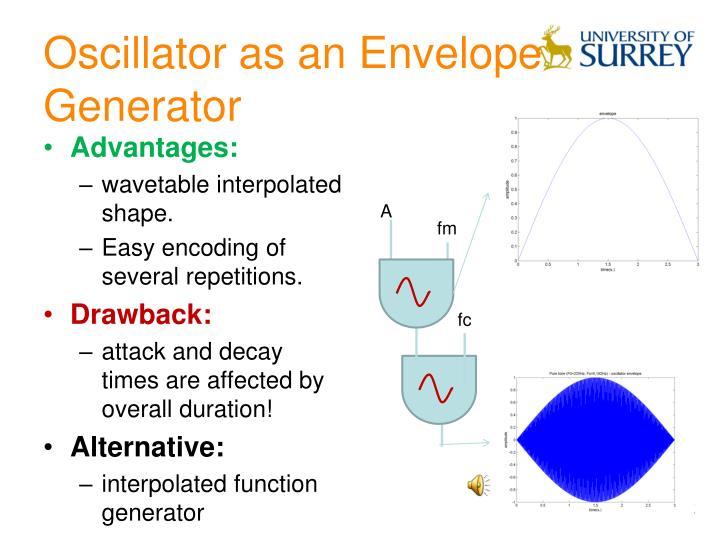 Oscillator as an Envelope Generator
