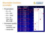 wavetable oscillator example