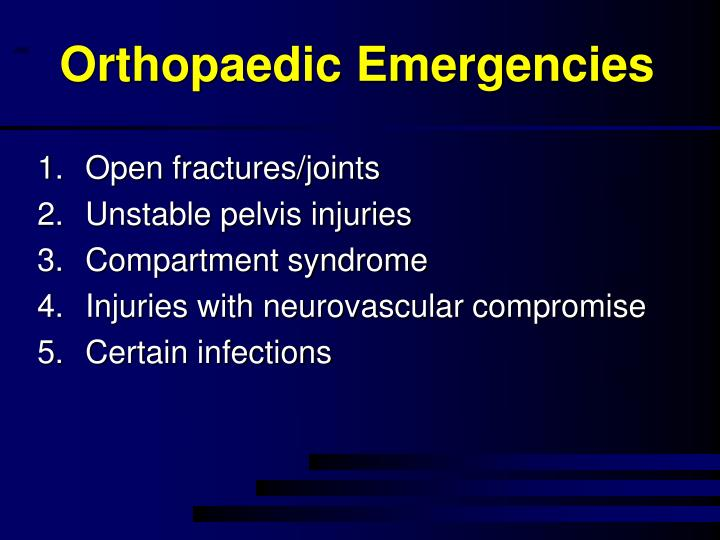 Orthopaedic Emergencies