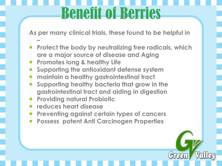 Benefit of Berries