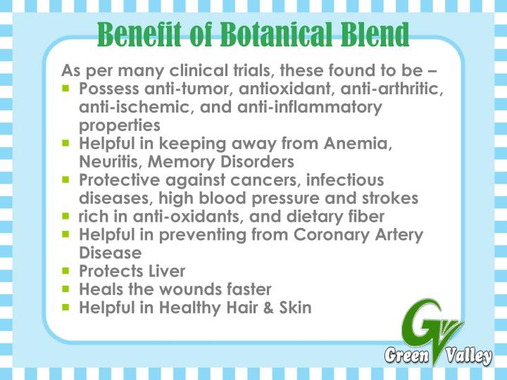 Benefit of Botanical Blend