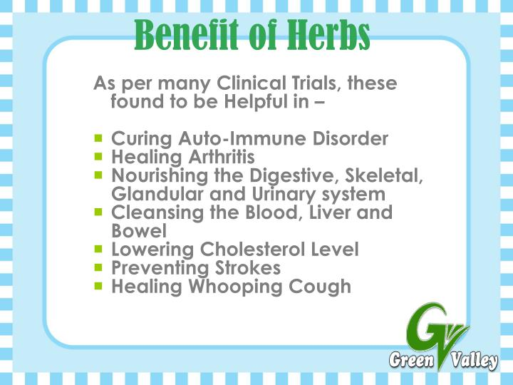 Benefit of Herbs