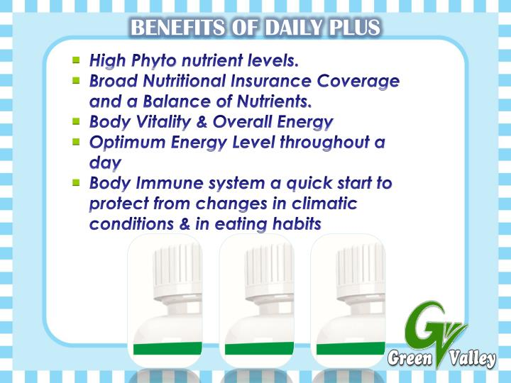 BENEFITS OF DAILY PLUS