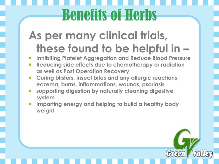 Benefits of Herbs