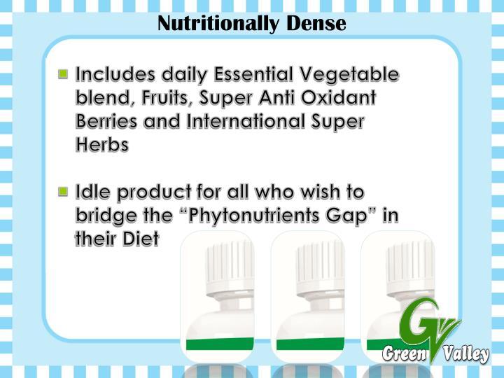 Nutritionally Dense