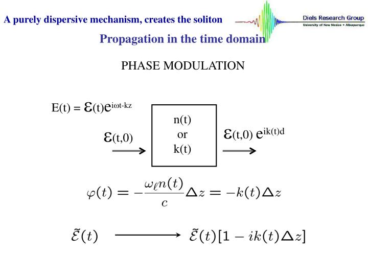 A purely dispersive mechanism, creates the soliton