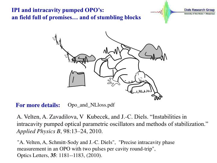 IPI and intracavity pumped OPO's: