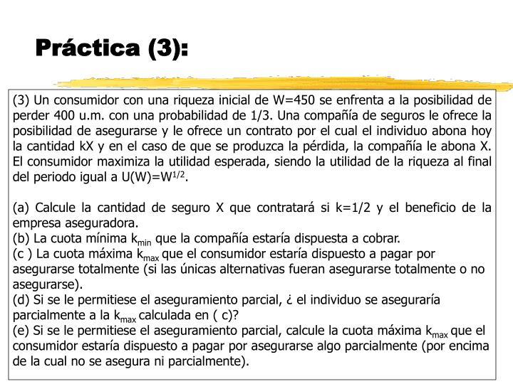 Práctica (3):