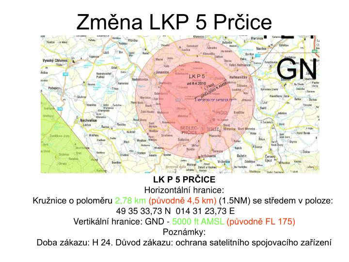 Změna LKP 5 Prčice