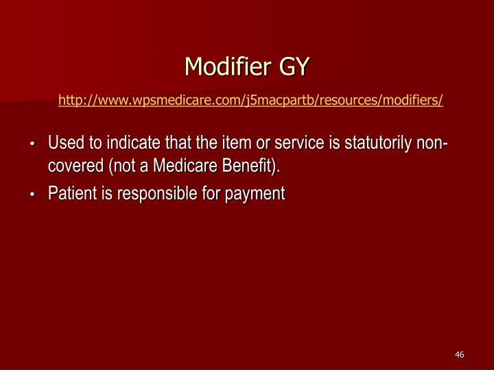 Modifier GY