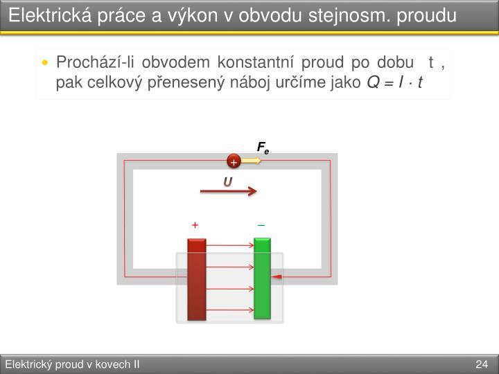Elektrická práce a výkon v obvodu
