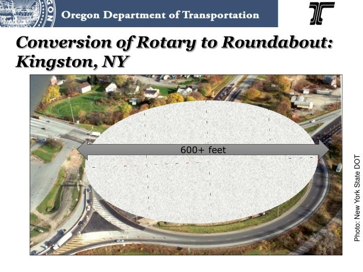 Conversion of Rotary to Roundabout: