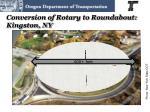 conversion of rotary to roundabout kingston ny