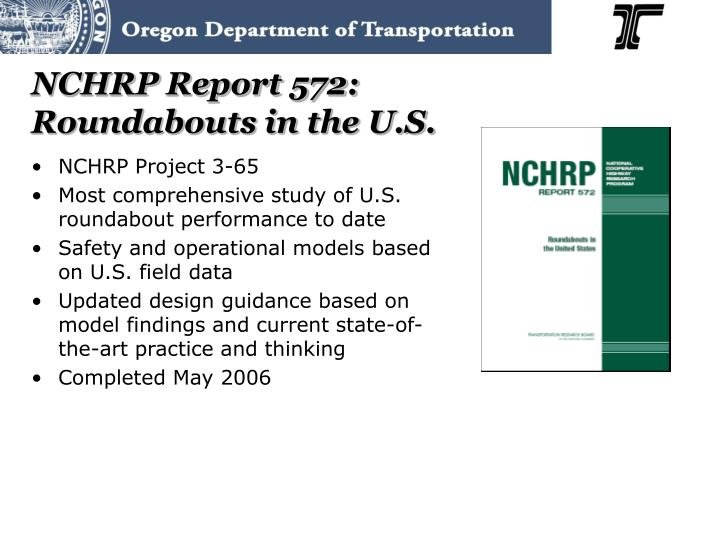 NCHRP Report 572: