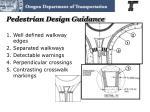 pedestrian design guidance