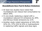 roundabouts save fuel reduce emissions