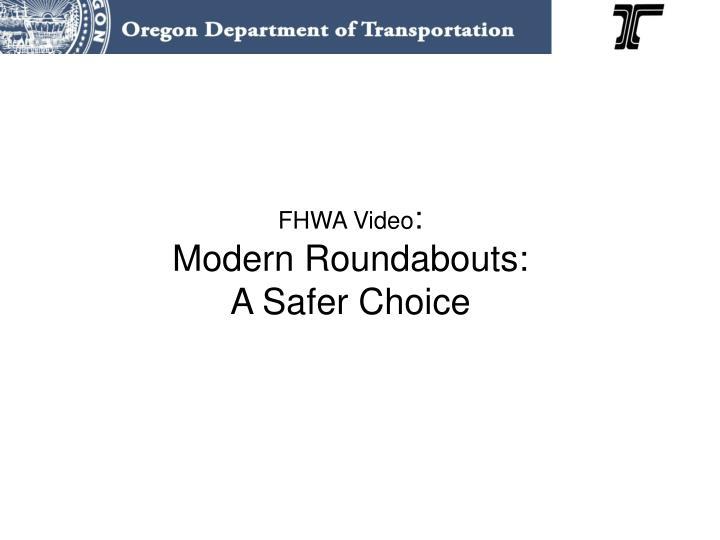 FHWA Video