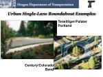 urban single lane roundabout examples