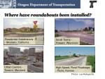 where have roundabouts been installed1