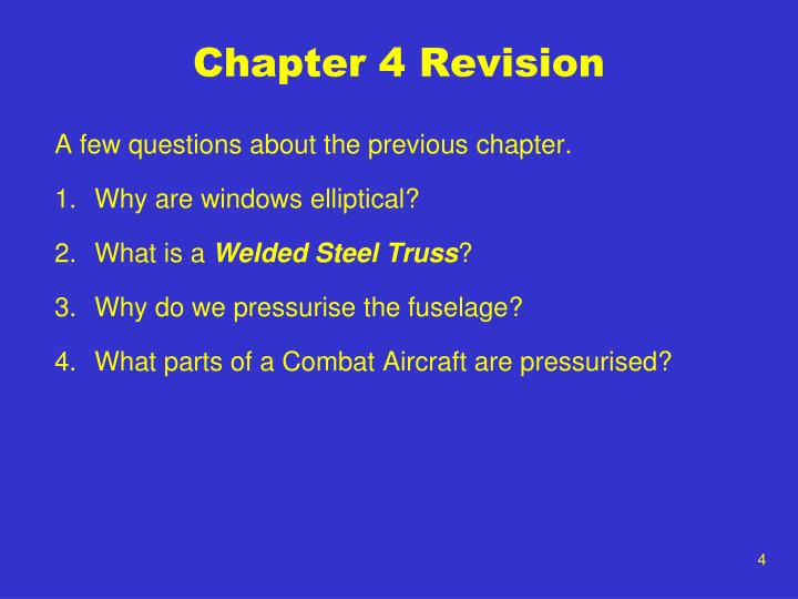 Chapter 4 Revision