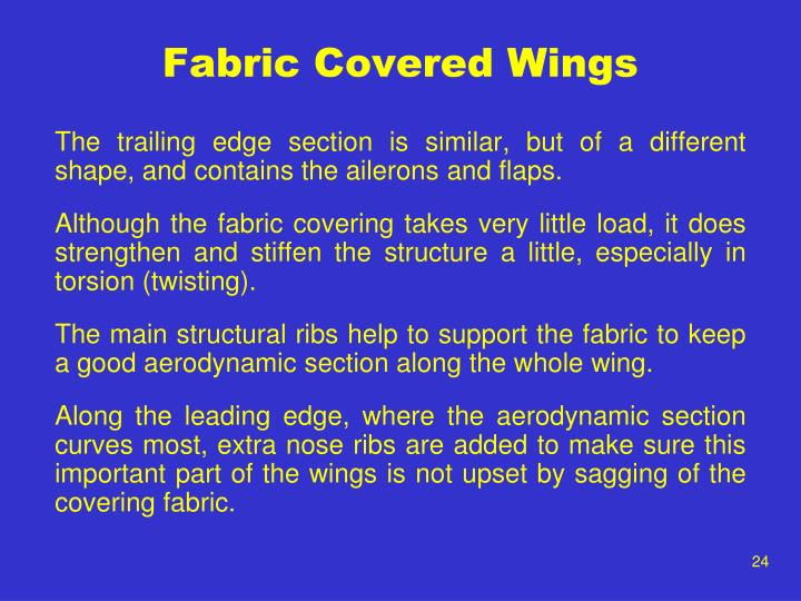 Fabric Covered Wings