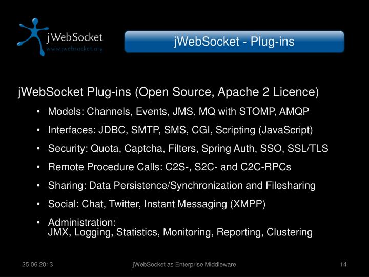 jWebSocket - Plug-ins