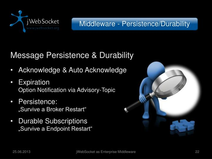 Middleware - Persistence/Durability