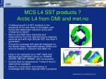 mcs l4 sst products arctic l4 from dmi and met no