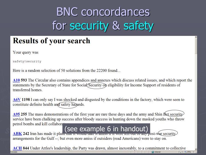 BNC concordances