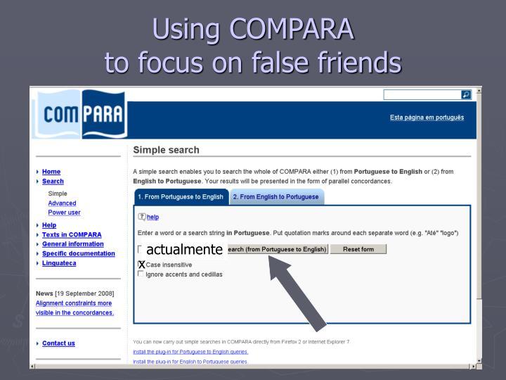 Using COMPARA