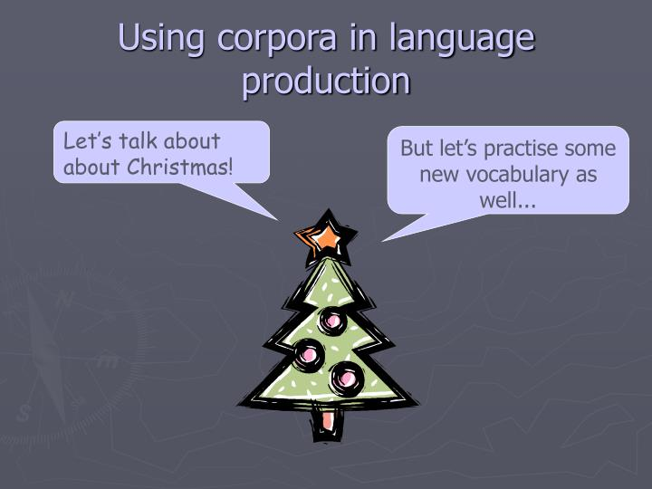 Using corpora in language production