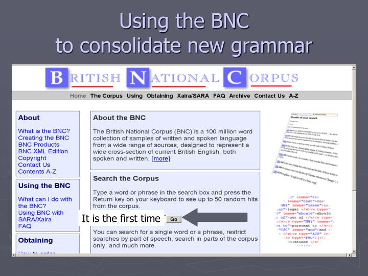 Using the BNC