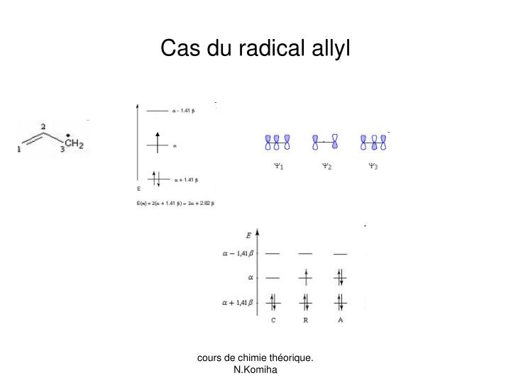 Cas du radical allyl